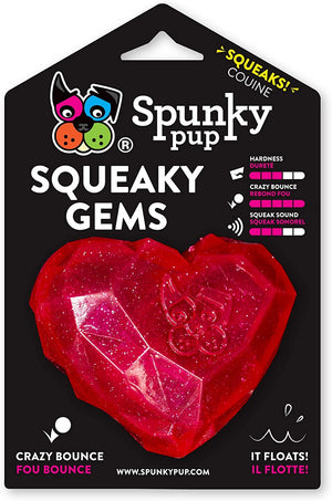 SPUNKY PUP SQUEAKER HEART RED