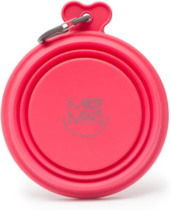 Messy Mutts Silicone Collapsible Bowl  Melon 3 cup