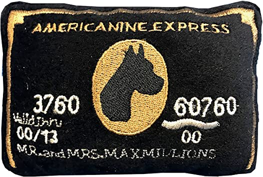 DOG DIGGING DESIGNS AMERICANINE EXPRESS CREDIT CARD PLUSH