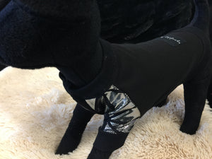 EYE OF DOG BLACK JUMPER WITH SILVER SLEAVES