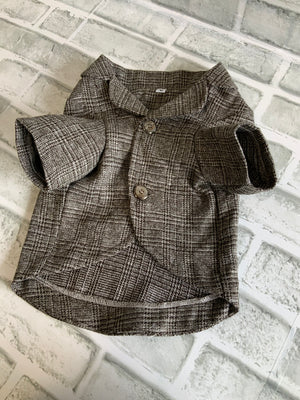 DOGGIE LEISURE/BUSINESS JACKET GRAYISH BROWN