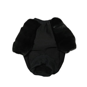 EYE OF DOG BLACK EVERYTHANG  FAUX FUR JUMPER