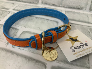 POISE PUP LEATHER COLLAR VIBRANT SUNSET