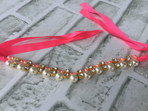 ABSOLUTELY ROYAL PEARL NECKLACE PINK STRING