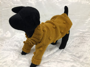 HANDKNIT RUSSIAN SWEATER MUSTARD