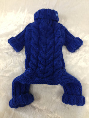 HANDKNIT RUSSIAN JUMPSUIT BLUE