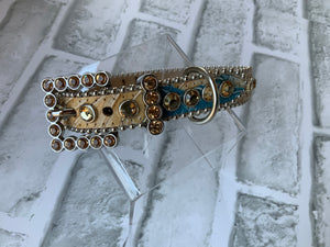 B.B.SIMON COLLAR SAHARA WITH GOLD SWAROVSKI CRYSTALS