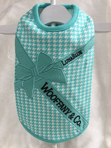 WOOFFANY&CO H TRIBBON TANK BLUE RIBBON