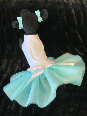 DOG IN THE CLOSET ROYALTY TUTU DRESS TIFFI BLUE