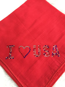 Dog In The Closet I Love USA Bandana Red