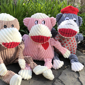 HUGGLE HOUNDS KNOTTIES MS.SOCK MONKEY
