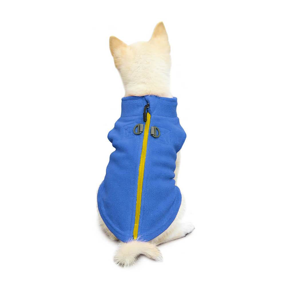 GOOBY ZIP-UP FLEECE BLUE