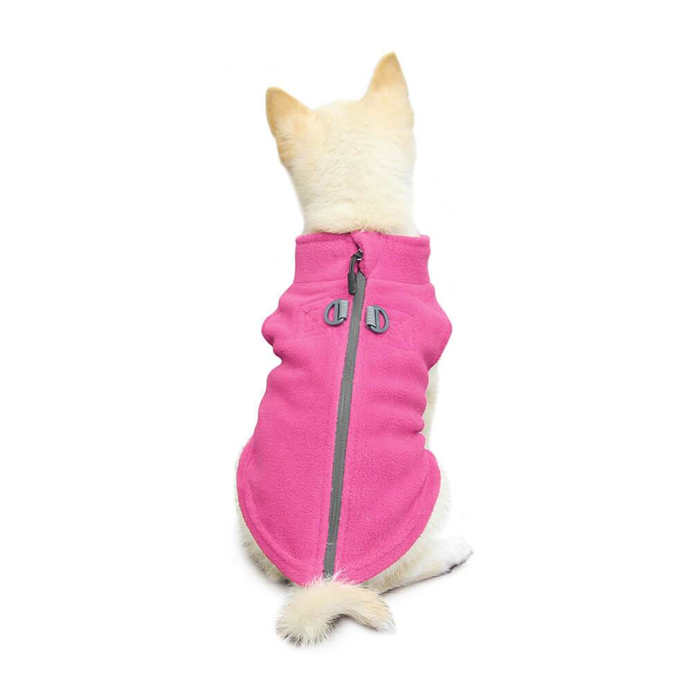 GOOBY ZIP-UP FLEECE PINK
