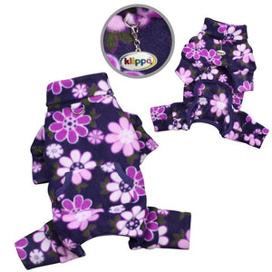KLIPPO PET MIDNIGHT GARDEN FLEECE TURTLENECK PAJAMAS