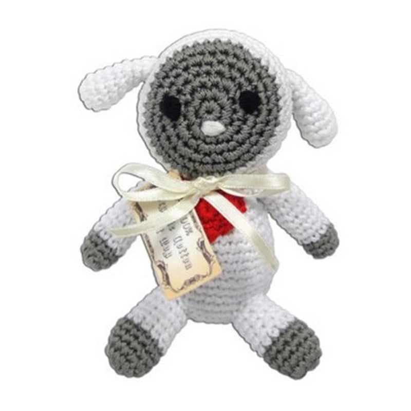 Pet Flys Crochet Toy White Lamb