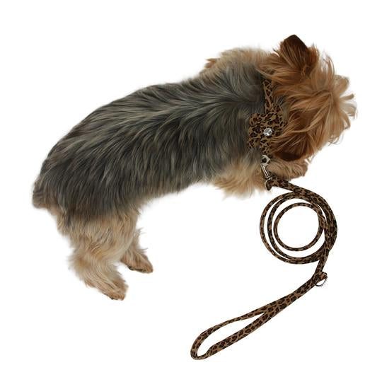 DOG SQUAD ULTRA SUEDE LEASH CHEETAH 4FT