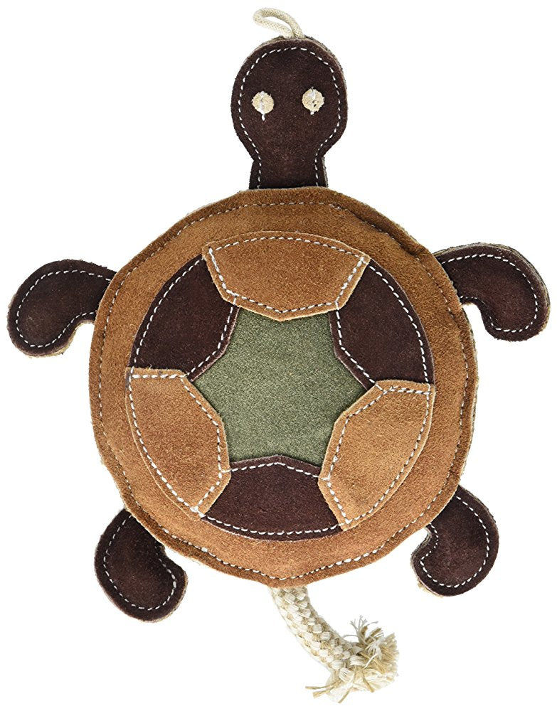 NATIVE DOG TOYS THE TURTLE - LEATHER