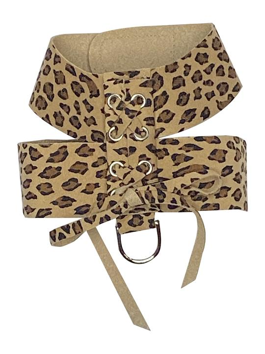 DOG SQUAD PARISIAN CORSET HARNESS CHEETAH
