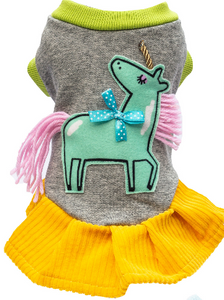 Suck Right Pink Green Unicorn Dress
