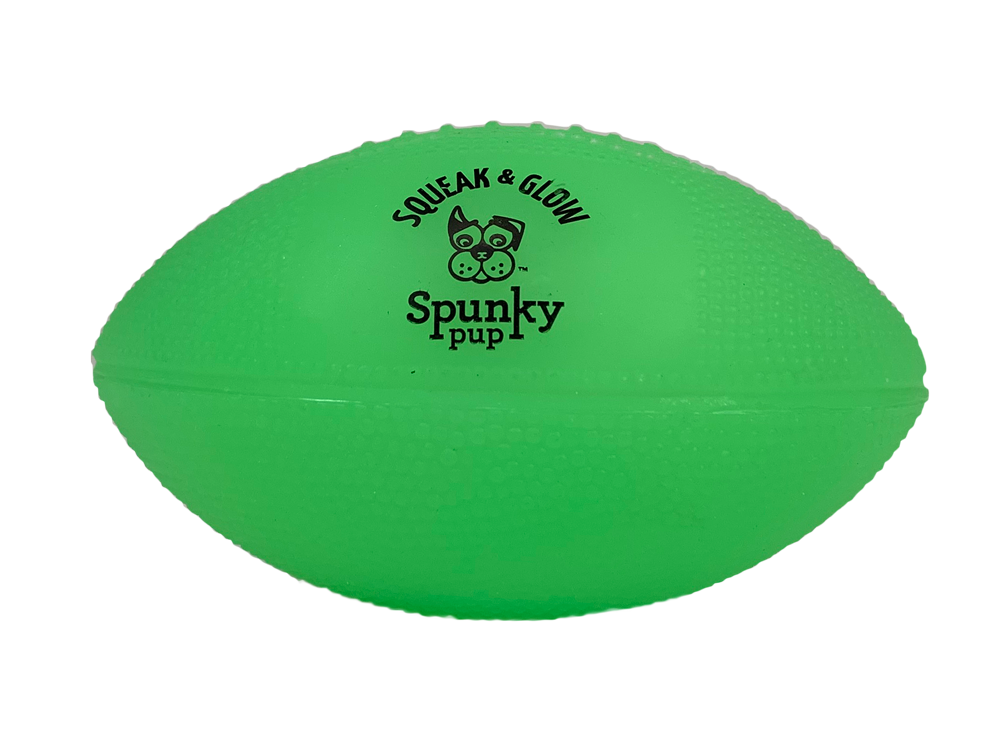 Spunky Pup Squeak & Glow Football