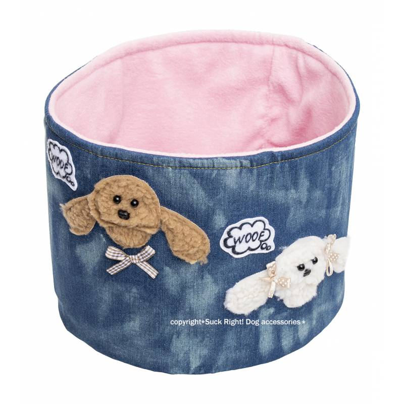 S*CK RIGHT BROWN DOG WHITE DOG TOY BOX