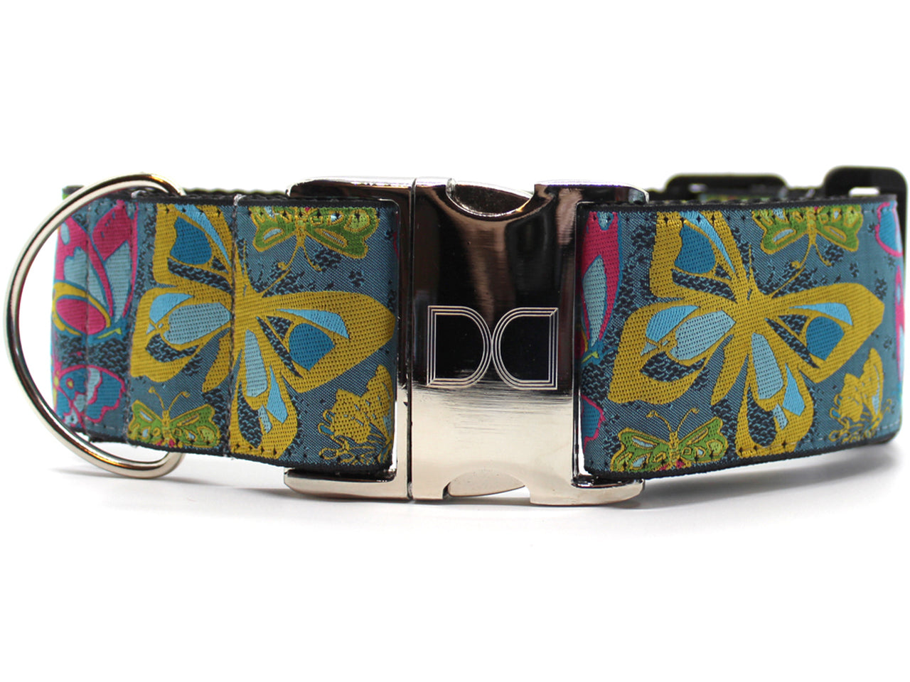 DIVA DOG BUTTERFLY GARDEN EXTRA WIDE COLLAR