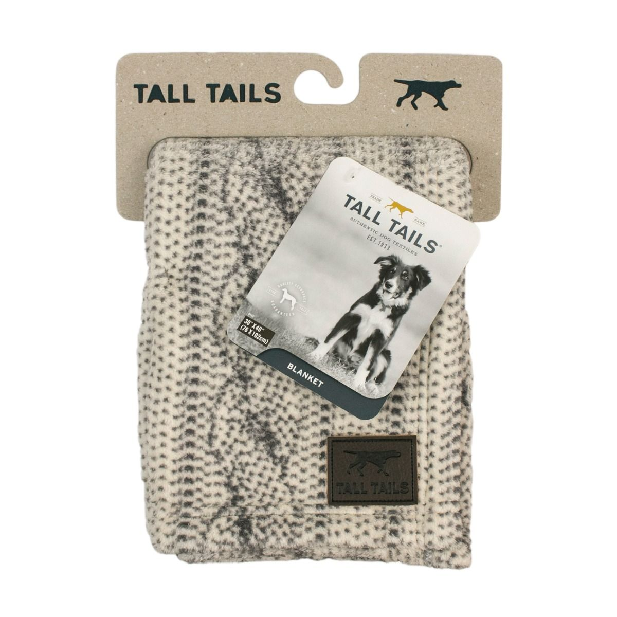 TALL TAILS CABLE KNIT PRINT BLANKET