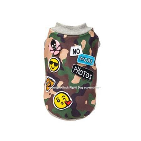 SUCK RIGHT CAMOUFLAGE EMOJIS SHIRT
