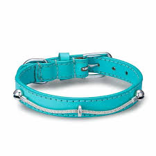 BELLA & BEAU CHARMED COLLAR TIFFY BLUE