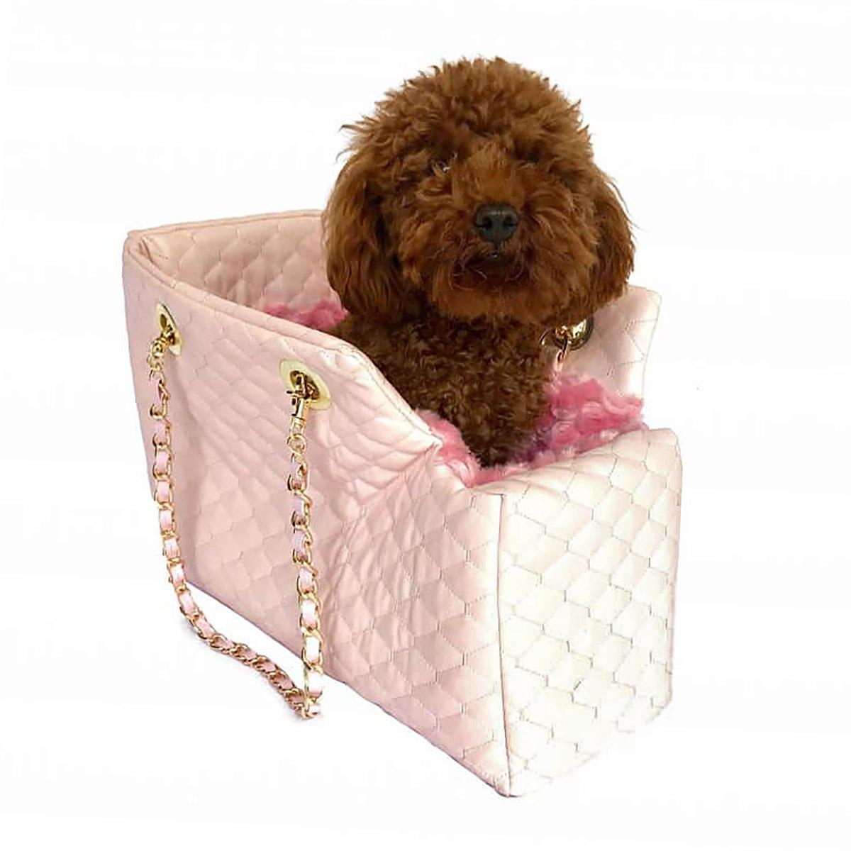 DOG SQUAD KATE QUILTED CARRIER PINK