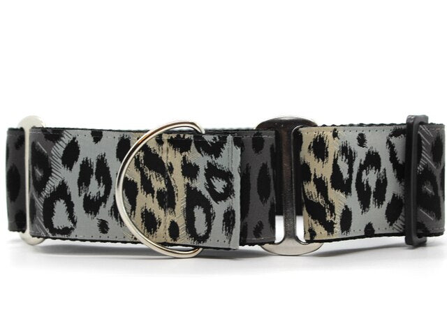 DIVA DOG MONTY MIDNIGHT LEOPARD EXTRA WIDE MARTINGALE COLLAR