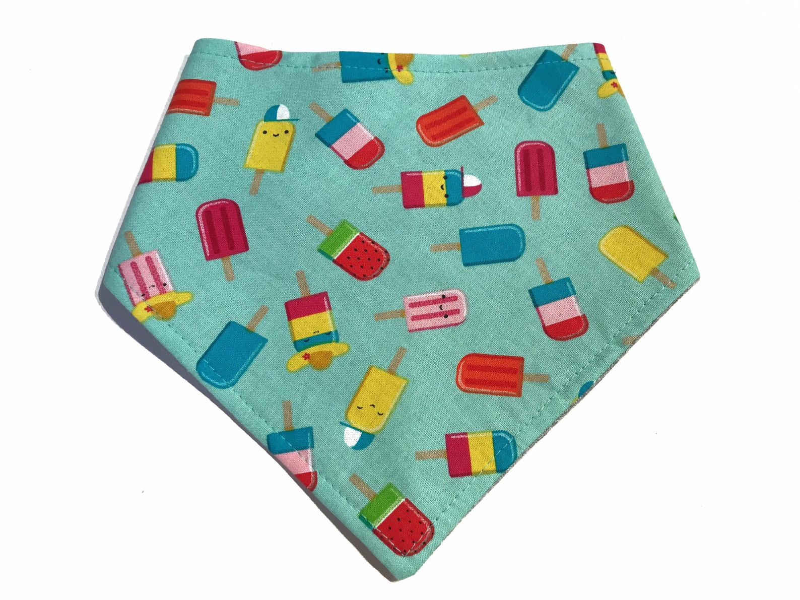 VERY VINTAGE POPSICLE SNAP ON BANDANA