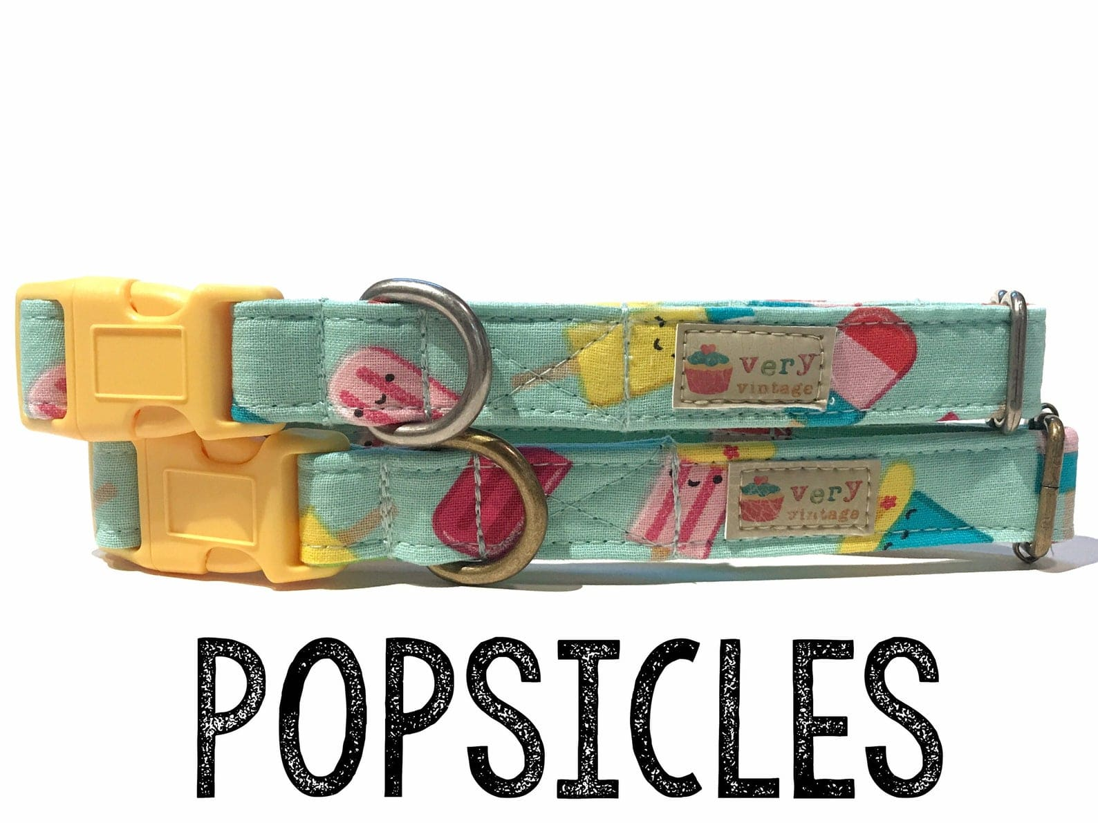 VERY VINTAGE ORGANIC COTTON ANTIC SILVER POPSICLES COLLECTION