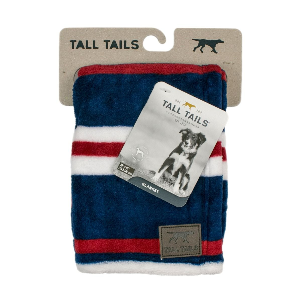 TALL TAILS CABLE NAUTICAL STRIPE BLANKET