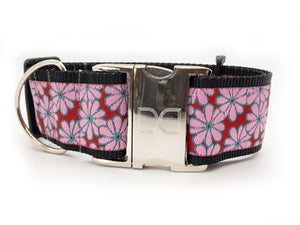 DIVA DOG STRAWBERRY FIELDS EXTRA WIDE COLLAR