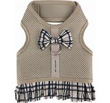 PARISIAN PET HARNESS DRESS KHAKI PLAID