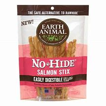Earth Animal Dog Treat No Hide Salmon Chew Stix Small 10 Pack