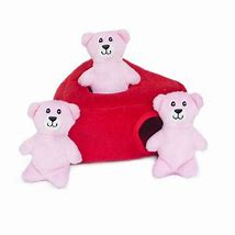 Zippy Paws Valentine's Burrow-Heart n' Bears