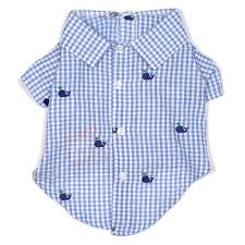 The Worthy Dog Gingham Whales Shirt