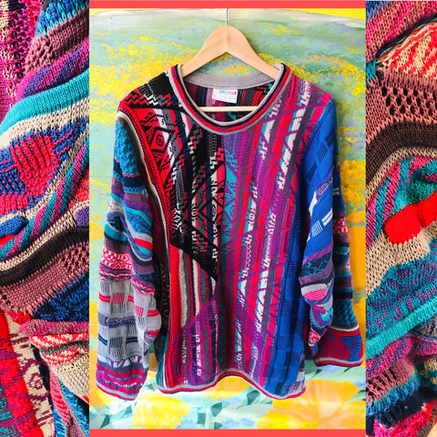 COOGI Authentic Art to Wear Cotton Sweater