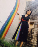 SOLD* Amazing Rainbow Wrap Dress