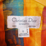 Amazing Rainbow Plaid Dior Suite Jacket with Subtle Leaf Pattern