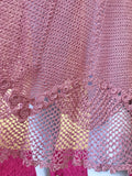 SOLD Angelic Mauve Pink Lace Maxi Dress