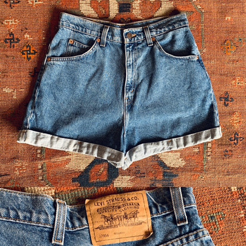 Orange Tab Levi's High Waisted Denim Shorts
