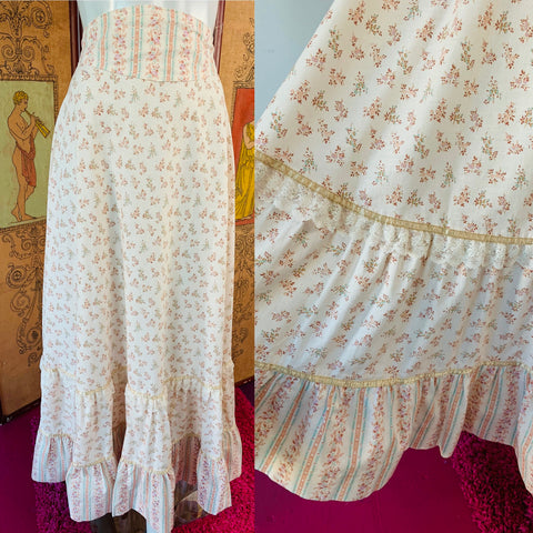 Gunne Sax 70s Cotton Maxi Skirt