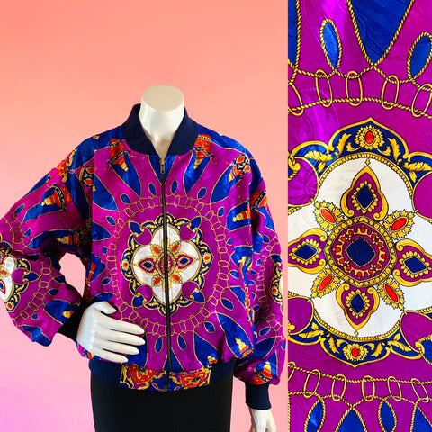 Purple Medallion Jewel Royal Print Jacket