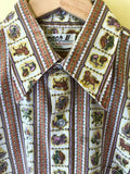 Men's Zodiac Button Up 1970's Shirt