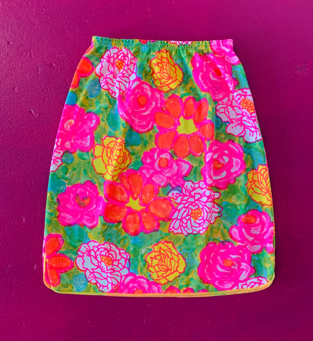 Neon Flower Power Nylon Half Slip