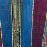Metallic Striped Jewel Tone Semi-Sheer Indian Tunic
