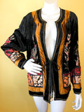 Velvet Applique Rayon Indian Jacket